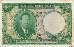 5 Piastres - 5 Dong INDOCHINE FRANÇAISE  1953 P.106 TB