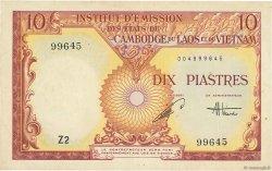 10 Piastres - 10 Dong INDOCHINE FRANÇAISE  1953 P.107 TTB