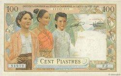 100 Piastres - 100 Dong INDOCHINE FRANÇAISE  1954 P.108 TTB