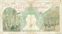 200 Piastres - 200 Dong INDOCHINE FRANÇAISE  1953 P.109 B