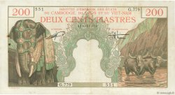 200 Piastres - 200 Dong INDOCHINE FRANÇAISE  1953 P.109 TTB