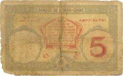5 Francs DJIBOUTI  1936 P.06b AB