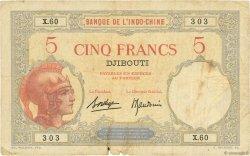 5 Francs DJIBOUTI  1936 P.06b B