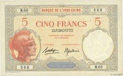 5 Francs DJIBOUTI  1936 P.06b SUP