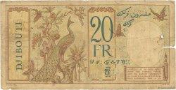 20 Francs DJIBOUTI  1936 P.07a AB