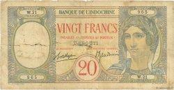 20 Francs DJIBOUTI  1941 P.07A AB