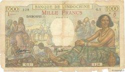 1000 Francs DJIBOUTI  1938 P.10 AB