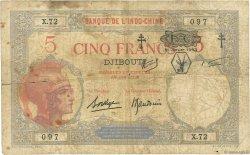 5 Francs DJIBOUTI  1943 P.11 B