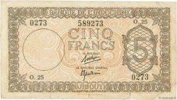 5 Francs DJIBOUTI  1945 P.14 TB