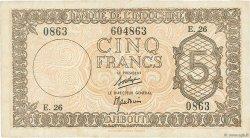 5 Francs Palestine DJIBOUTI  1945 P.14 TB+