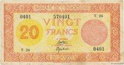20 Francs Palestine DJIBOUTI  1945 P.15 TB