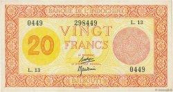 20 Francs DJIBOUTI  1945 P.15 TTB+