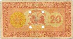 20 Francs DJIBOUTI  1945 P.15 B+