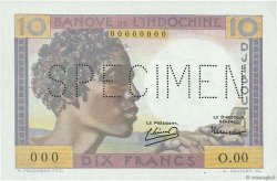 10 Francs DJIBOUTI  1946 P.19s NEUF