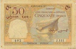 50 Francs DJIBOUTI  1952 P.25 TB