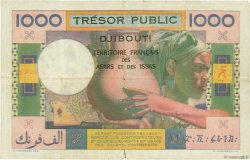 1000 Francs AFARS ET ISSAS  1974 P.32 TB+