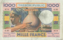1000 Francs DJIBOUTI  1974 P.32 TTB