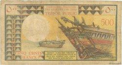 500 Francs DJIBOUTI  1975 P.33 B+