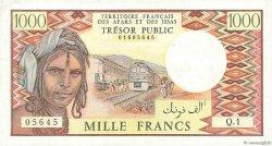 1000 Francs DJIBOUTI  1975 P.34 TTB