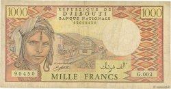 1000 Francs DJIBOUTI  1991 P.37d B+