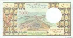 5000 Francs DJIBOUTI  1991 P.38c TTB+