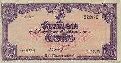 10 Kip LAOS  1945 P.A4b SPL