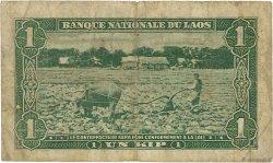 1 Kip LAOS  1957 P.01a B+