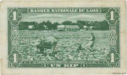 1 Kip LAOS  1957 P.01b TTB