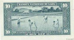 10 Kip LAOS  1957 P.03a SPL