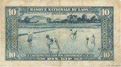 10 Kip LAOS  1957 P.03b B+
