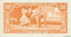 50 Kip LAOS  1957 P.05b SPL