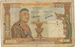 100 Kip LAOS  1957 P.06a B