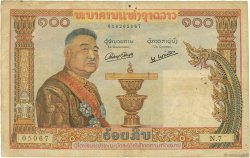 100 Kip LAOS  1957 P.06a TB
