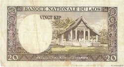 20 Kip LAOS  1963 P.11a TB