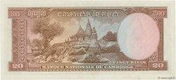 20 Riels CAMBODGE  1956 P.05a TTB+