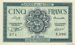5 Francs type 1942 ALGÉRIE  1942 P.091 pr.NEUF