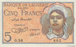 5 Francs type 1944 ALGÉRIE  1944 P.094a pr.NEUF
