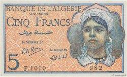 5 Francs type 1944 ALGÉRIE  1944 P.094b pr.NEUF