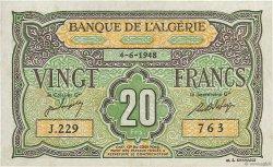 20 Francs type 1946 ALGÉRIE  1948 P.103 SUP