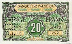 20 Francs type 1946 ALGÉRIE  1946 P.103s NEUF