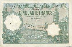 50 Francs type 1912 vert ALGÉRIE  1936 P.080 TTB