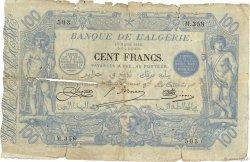 100 Francs type 1874 sans ALGER ALGÉRIE  1919 P.074 AB