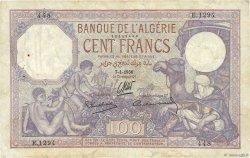100 Francs type 1920 ALGÉRIE  1936 P.081b TB+