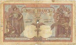 1000 Francs type 1926 ALGÉRIE  1939 P.083a B