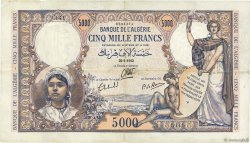 5000 Francs type 1942 ALGÉRIE  1942 P.090 TTB