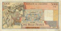 5000 Francs ALGÉRIE  1947 P.105 TB+