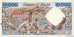 10000 Francs type 1952 mouettes ALGÉRIE  1956 P.110 TTB
