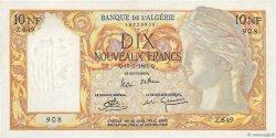 10 Nouveaux Francs type 1946 modifié 1959 ALGÉRIE  1961 P.119a