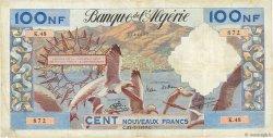 100 Nouveaux Francs type 1952 modifié 1959 ALGÉRIE  1959 P.121a TTB