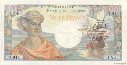 1000 Francs type 1945 réserve - Arnaud ALGÉRIE  1945 P.096 SUP+